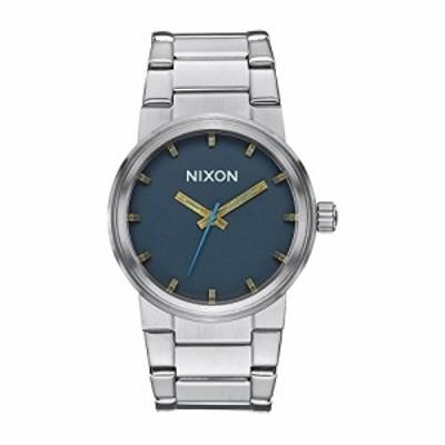 腕時計 ニクソン アメリカ NIXON Men's Cannon Navy/Brass Stainless Steel Analog Watch