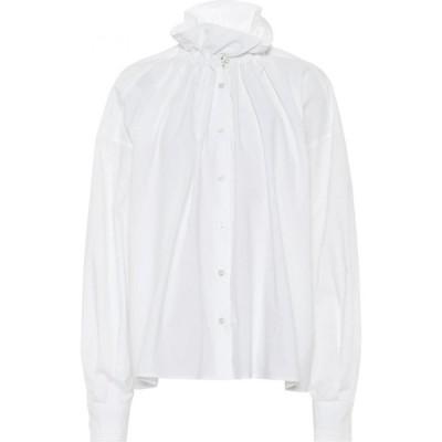 メゾン マルジェラ MM6 Maison Margiela レディース ブラウス・シャツ トップス cotton poplin blouse White