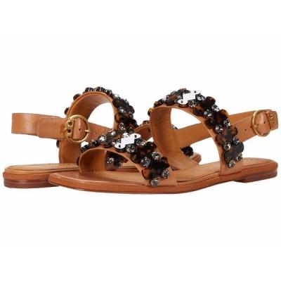 トリーバーチ サンダル シューズ レディース 5 mm Delaney Embellished Sandal Tan