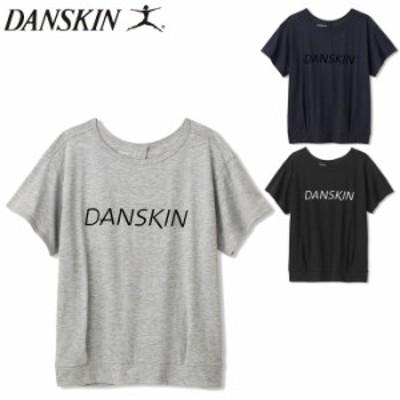 DANSKIN ダンスキン トップス ヨガウェア Tシャツ レディース 半袖 BACK OPEN TEE ネイビー/グレー/ブラ