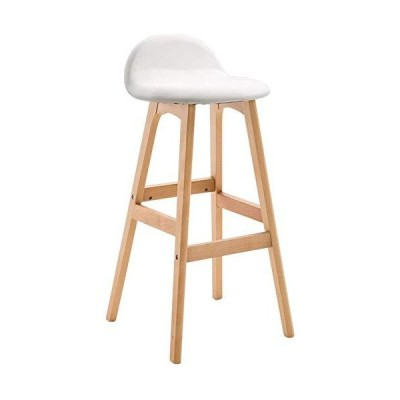 Solid Wooden Bar Stool Chairs with Backs Breakfast Chairs PU Leather Seat Cushion Barstools in Home.Counter Height bar stools