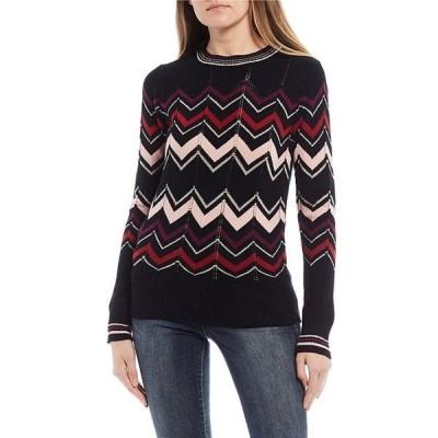 ジェシカシンプソン レディース パーカー・スウェット アウター Marcelina Chevron Sweater
