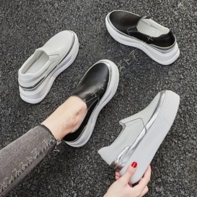 インヒール スリッポン インヒールスニーカー レディース 靴 歩きやすい 合わせやすい 婦人靴 シークレットシューズ ヒールスニーカー 疲れない靴 きれいめ