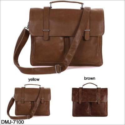 DMJ ブリーフケース 本革 牛革 鞄 新品通勤 手提げ 鞄 軽量  dmj-7100 メンズバッグ 斜め掛けバッグ カバン