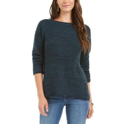 スタイル&コー Style & Co レディース ニット・セーター トップス Crewneck Marled Sweater Dark Kale/Deep Black