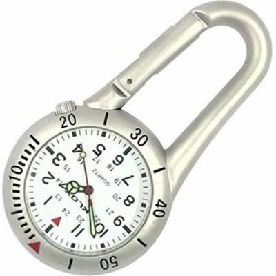 クリップオンハイカー腕時計???シルバー