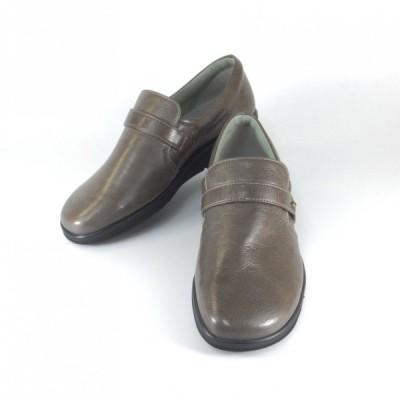 VIGEVANO 靴 VIGEVANO パンプス 5003 グレー スリッポン 幅広 5E 靴 レディース 外反母趾 ゆったり 履きやすい靴 レディース オシャレな靴 旅行 コンフォート 靴