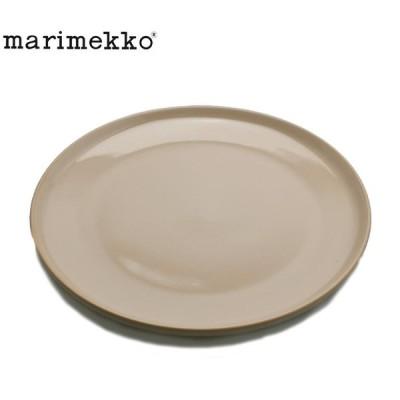 マリメッコ 食器 OIVA プレート 25cm MARIMEKKO 70615-800 ブラウン 茶 キッチン 食卓 丸皿 皿 かわいい おしゃれ デザイン 総柄 新生活 母の日
