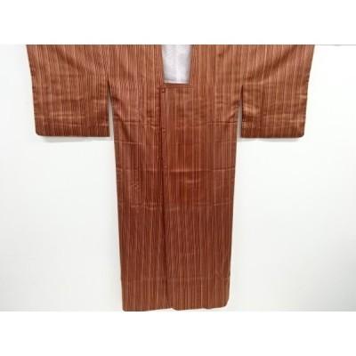 宗sou 縞織り出し雨コート【リサイクル】【着】