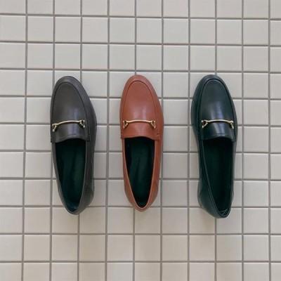 GIVEU レディース ローファー Chain classic loafers