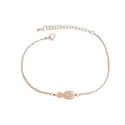 Happyyami Pineapple Charm Bracelet Gold Chain Pendant Bangle Bracelet Jewel