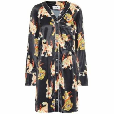 キリン Kirin レディース ワンピース ワンピース・ドレス Printed satin shirt-dress Black Multi
