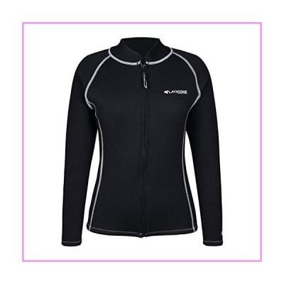 【送料無料】LayaTone Wetsuits Tops Men 3mm Neoprene Jacket Adults Surfing Canoeing Bathing Surfing Suits Jacket Top Front Zipper Rash