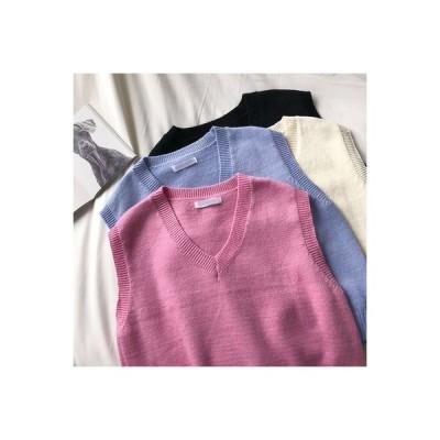 【送料無料】単一色 襟 袖ベスト 女 秋冬 新品 韓国風 レジャー 何でも似合う 学生 ノースリーブ | 346770_A64199-5205435