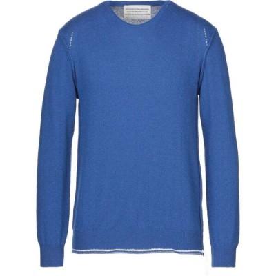 ボクー ..,BEAUCOUP メンズ ニット・セーター トップス sweater Bright blue