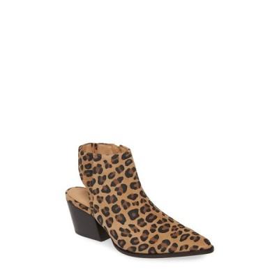 マチス ブーツ&レインブーツ シューズ レディース Odie Cutout Pointed Toe Boot Leopard Print Suede
