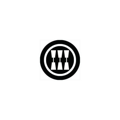 家紋シール 三本杵紋 直径4cm 丸型 白紋 4枚セット KS44M-1604W