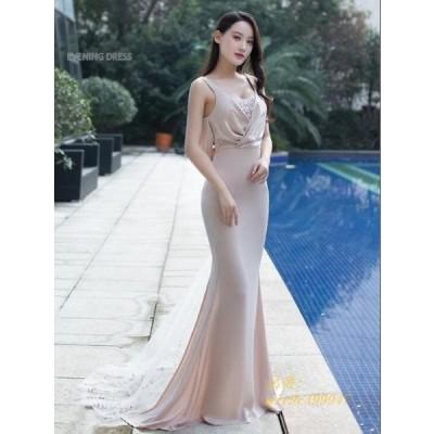 ウェディングドレス パーティードレス かわいい オシャレ ワンピ タイトワンピース 大人 ノースリーブ イブニングドレス 二次会 結婚式 レディース お嬢様