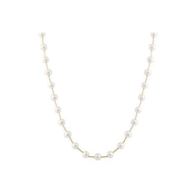 スプレンディット Pearls ネックレス ペンダント アクセサリー パール tube ネックレス   tubes ウイズ 6-7ミリ ホワイト パール 14K.