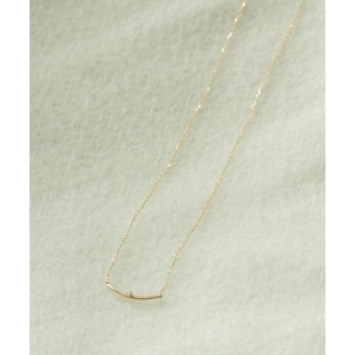 ネックレス Favorible diamond bar necklace