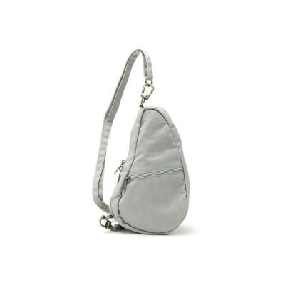 【ギャレリア】 ヘルシーバックボディバッグ HEALTHY BACK BAG ショルダーバッグ Textured Nylon Baglett アメリバッグ 6100 レディース グレー F GALLERIA