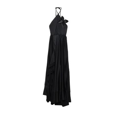 CRISTINAEFFE ロングワンピース&ドレス ブラック 40 レーヨン 100% ロングワンピース&ドレス