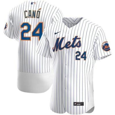 ナイキ メンズ Tシャツ トップス Robinson Cano New York Mets Nike Home 2020 Authentic Player Jersey