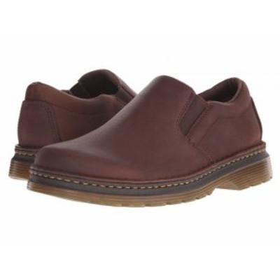 Dr. Martens ドクターマーチン メンズ 男性用 シューズ 靴 ローファー Boyle Slip-On Shoe Dark Brown Grizzly【送料無料】