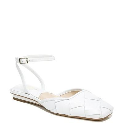 フランコサルト レディース パンプス シューズ Jolee2 Woven Leather Ankle Strap Square Toe Flats