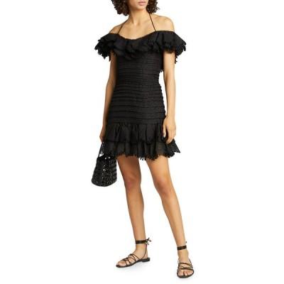 ジマーマン レディース ワンピース トップス Super Eight Off-Shoulder Mini Dress