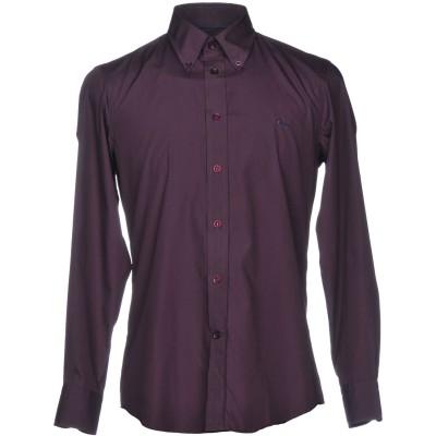 HARMONT&BLAINE シャツ ダークパープル XL コットン 100% シャツ