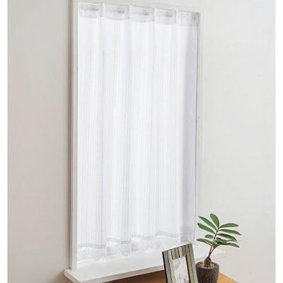 カフェカーテン(プライバシー保護に優れた遮熱・UVプロテクトカットタイプ)/ホワイト/幅58×丈90cm