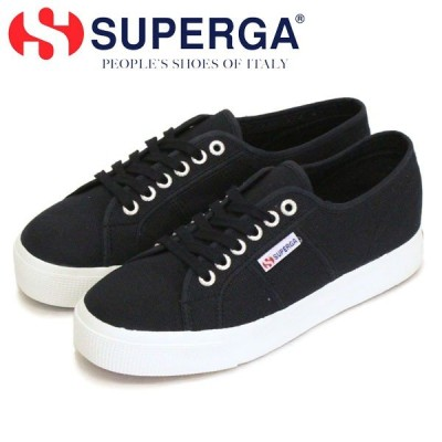SUPERGA (スペルガ) 2730-COT U キャンバススニーカー F83 BLACK/FWHITE SPG025