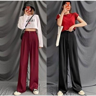 ワイドパンツスラックス韓国オルチャンストリートダンス衣装きれいめタックオフィス原宿系ボトムス