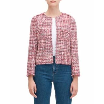 ケイトスペード レディース ジャケット・ブルゾン アウター textured tweed jacket PINK