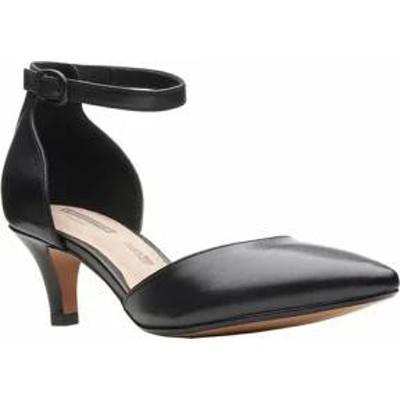Clarks レディースサンダル Clarks Linvale Edyth Ankle Strap Sandal Black Ful
