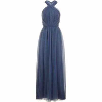 チチ Chi Chi レディース ワンピース マキシ丈 ワンピース・ドレス Ruched Bodice Halter Neck Maxi Dress Blue