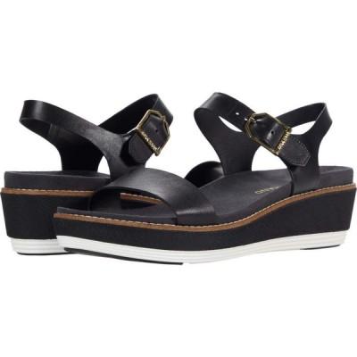 コールハーン Cole Haan レディース サンダル・ミュール ウェッジソール 厚底 シューズ・靴 OG Flatform Wedge Sandal Black Leather/Nylon Wedge