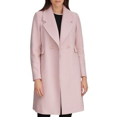 カールラガーフェルド コート アウター レディース Women's Double Breasted Coat Light Pink