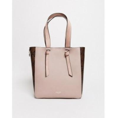 ルエラグレイ Luella Grey レディース トートバッグ バッグ tote bag with knot straps in mink モーヴピンク