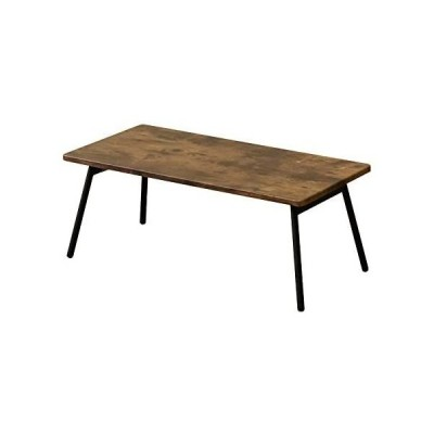 Soleil 折りたたみセンターテーブル 80×40 折れ脚 アンティークブラウン UTK-04ABR