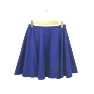 【中古】ノーリーズ Nolley's フレア スカート サイドジップ 38 ブルー 青 レディース/9〇8 レディース 【ベクトル 古着】