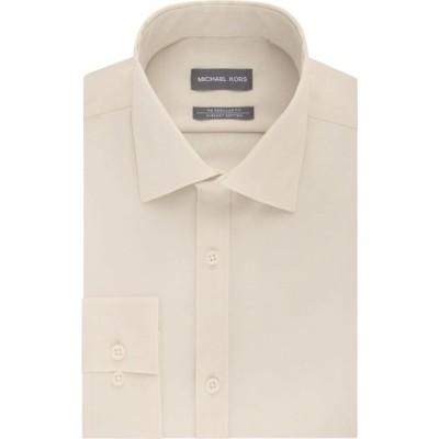 マイケル コース Michael Kors メンズ シャツ トップス regular-fit airsoft non-iron dress shirt ベージュ