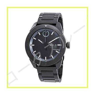 Movado Men's Bold 44mm Black Steel Bracelet Case Quartz Analog Watch 3600512 並行輸入品