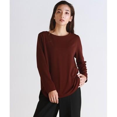 LAUTREAMONT ONLINE SHOP / マットストレッチポンチ起毛カットソー WOMEN トップス > Tシャツ/カットソー