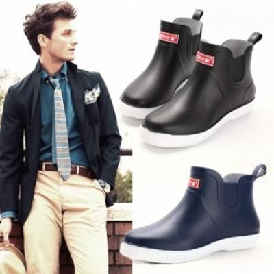 レインシューズ メンズ 雨靴 レインブーツ 防水靴 ショートブーツ 梅雨 ワークシューズ 軽量 歩きやすい アウタドア カジュアル靴 カーゴ