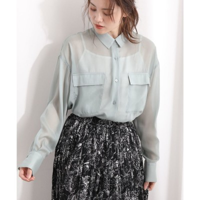 ViS シアービッグシャツ(ライトグリーン(33))【返品不可商品】