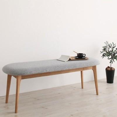 丸みがかわいい ダイニングベンチ 120 / ベンチシート 木製 無垢 北欧 ベンチチェア 木製 おしゃれ ダイニング用 長椅子 2人掛け ruk 1