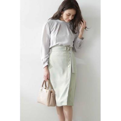 (PROPORTION BODY DRESSING/プロポーションボディドレッシング)◆バイカラーパイピングタイトスカート/レディース カーキ
