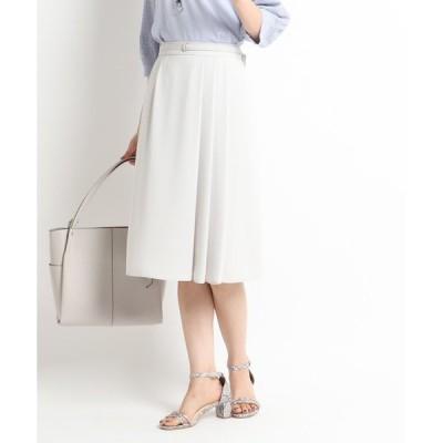 スカート 【WEB限定カラー】ベルト付きフリュイドスカート